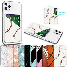 Leather Phone Wallet Card Holder for Back of Smart Phone, iPhone, Samsung,LG