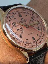 Vintage Breitling Antimagnetic Chronograph 18 K Solid Rose Gold Ref:239