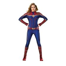 Captain Marvel Womens Adult Superhero Costume Suit Size Large ( 10 - 14 )