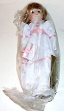 Mann Collectible Connoisseur Doll 402A Girl 1985 Hand Painted Porcelain