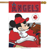 "Los Angeles Angels MLB Mickey Mouse Baseball House Flag Licensed 28"" x 40"""