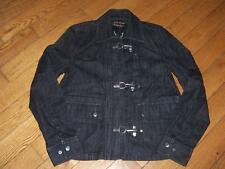 LAUREN RALPH LAUREN JEANS CO DARK DENIM ASIAN DESIGN JACKET HOOK CLOSURE SMALL