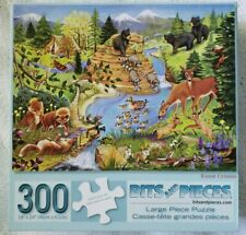 Bits And Pieces 300 Large Piece Puzzle Forest Critters COMPLETE