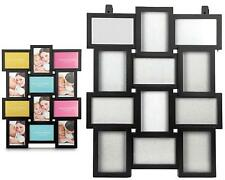 Family Picture Photo Frame Holds 12 Photos Aperture Hanging Multi Frame Black