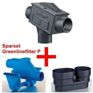 3P Spar-Set Greenlinefilter P, Beruhigter Zulauf, Überlaufsiphon duo