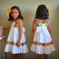 Summer Toddler Kids Baby Girl Lace Floral Knot-Bow Party Princess Dress Sundress