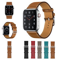 38/42/40/44mm Genuine Leather Apple Watch Band Strap for iWatch Series 4 3 2 1