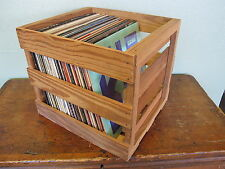 New listing Wood Record Crate Vinyl Record Lp Storage Box Case Crate