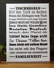 Dekofliese Wandbild Bildfliese Tischregeln ... (070DP) Geschenkidee Fliese