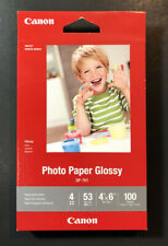 Officiel Canon Encre Papier Photo Brillant GP-701 [100 Feuilles 4 By 6 IN ] Neuf