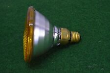 ANCIENNE AMPOULE LAMPE PHILIPS 220 V 80 W COULEUR JAUNE DISCO PAR 38 RAMPE BAL
