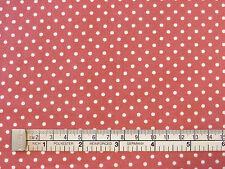 Dusky Rose Pink/White 3mm POLKA DOTS 100% COTTON Poplin fabric spots craft 1m