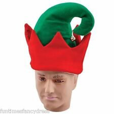 Vestido de lujo Navidad Jingle Bell Elf Sombrero Rojo Verde Elfo Sombrero  Santa s Helper de venta 1e3de376b4f