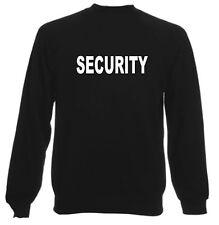 SECURITY SWEATSHIRT FOR BODYGUARD DOORMAN BOUNCER GUARD PRINTED FRONT & BACK