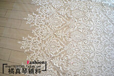 KN42 3D guipure lace flower applique fabric bridal fabric 135cm width