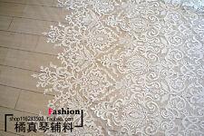 KN42 3D Guipure Spitze Blume Applikation Stoff Bridal Stoff 135cm Breite