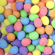 Pack of 100 Small Multicolour Bobbly Easter Arts & Craft Eggs