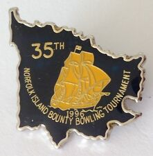Norfolk Island 1996 Bounty Bowling Tournament Club Badge Pin Rare Vintage (M12)