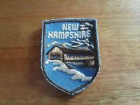 VTG NEW HAMPSHIRE EMBROIDERED PATCH