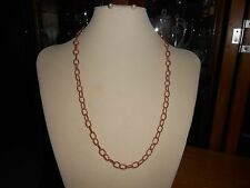 Necklace Chain, Copper 24 inch, Rope Ovals  7mm, with Copper Lobster Clasp