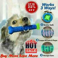 Chew Toy Dog Toothbrush Pet Molar Tooth Cleaning Brushing Stick Puppy Z9O1