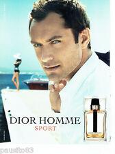 PUBLICITE ADVERTISING 086  2012  Dior Sport homme parfum & Jude Law