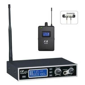 UHF PLL Wireless In-Ear Monitor System with Case