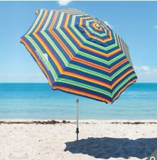 Tommy Bahama Beach Umbrella 8ft, 2.4m Parasol with Sand Anchor Carrycase