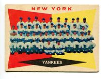 1960 Topps #332 New Yankees Team Card VG 17899