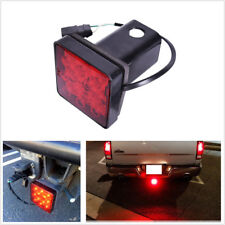 "12 LED Brake Light Trailer Hitch Cover Towing & Hauling 2"" Receiver For Truck RV"