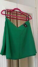 Atmosphere  - BRAND NEW- gorgeous green flash crepe skater mini skirt - uk 12