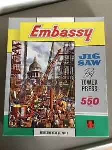 Vintage Jigsaw Puzzle-London Scene-Embassy-550 piece-Complete.