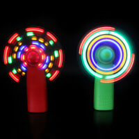2X LED Light up Fans Mini Handheld Fan Battery Operated for Traveling Household
