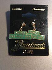Rare E.P.E. Memphis Elvis Presley Blvd. Cloisonne Earrings Graceland