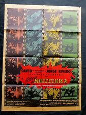"""SANTO """"EL TESORO DE MOCTEZUMA"""" JORGE RIVERO MEXICAN MOVIE POSTER 1966"""