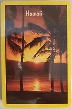 VTG Playing Card Deck Hawaii HI State Sunset Palms Beach Souvenir SEALED Poker