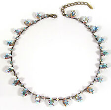SoHo® Collier Halskette Kette vintage Steine 1960´s  aurora borealis Kristall