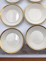 "12 Johnson Brothers Pareek Bone China Fruit Bowls 5 1/4"" Gold Rims England"