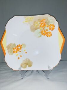 Shelley - hand painted Art Deco cake plate