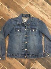 GAP Women's Denim Trucker Style Blue Jean Jacket Button Down 100% Cotton Medium