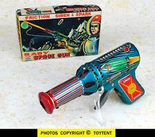 Baby Space Gun sparkling tin friction raygun Daiya Japan bright sparks SEE MOVIE