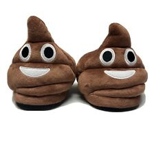 Emoji Poop Slippers Womans size M 7-8 House Shoes Free Shipping