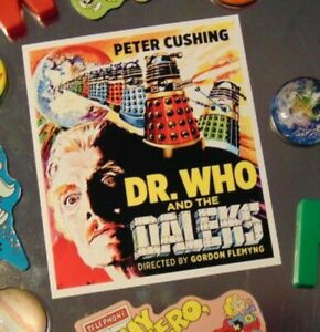 DOCTOR WHO Sci Fi DALEK Steampunk Fridge MAGNET Movie Poster Gift New House