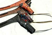 NEW 22 Right Hand Tooled Holster LEATHER Western RIG Gun Belt Drop Loop SASS