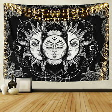 Sun and Moon Tapestries Wall Hanging Buring Sun Psychedelic Tapestry Home Decor