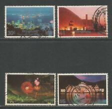 Hong Kong 1983 City Views by Night--Attractive Topical (415-18) fine used