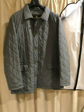 Loro Piana Grey Quilted Jacket Coat, X-Large, Cashmere Lining, RRP £2300