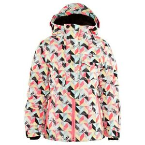 O'Neill Girls Youth Carat Snowboard Jacket Size 10 / 152 White All Over Print