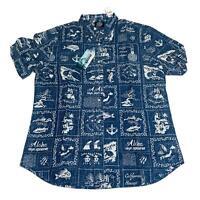 Reyn Spooner Mens Hawaiian Shirt Size XL Stories Frm East Tailored Fit New