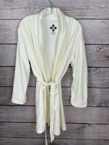 Wrap Up by VP Cream BRIDE Bling Robe SOFT COZY Pockets EUC Women's Size O/S